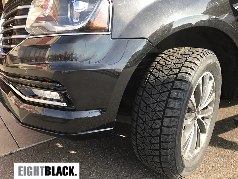 Eight Black Executive Transport uses Blizzak Winter Tires for optimal traction in snow and ice